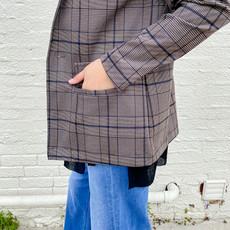 Punchy's All Business Plaid Blazer