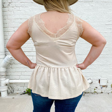 Punchy's Natural Lace V Neck Cami