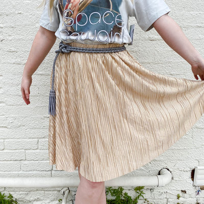 Punchy's Tinsel Gold Midi Skirt