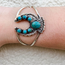 Punchy's Turquoise Naja Cuff