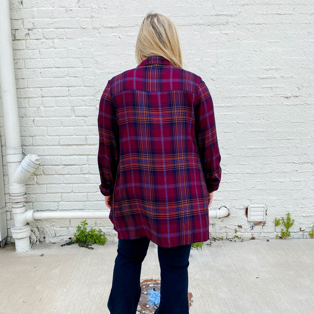Punchy's Very Berry Plaid Button Down