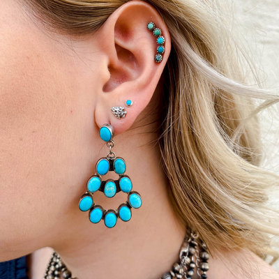 Punchy's 5 Stone Turquoise Cartilage Earring