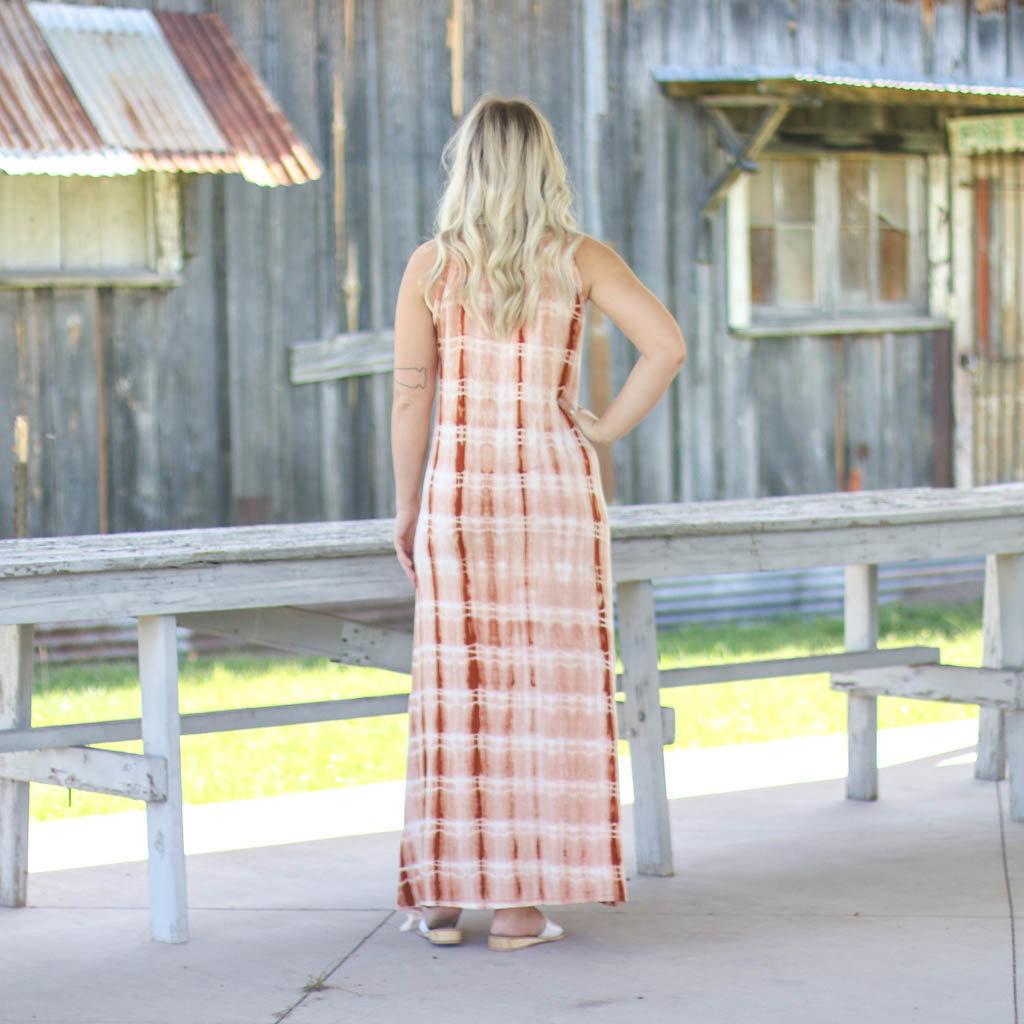Punchy's Orange Tie Dye Maxi Dress