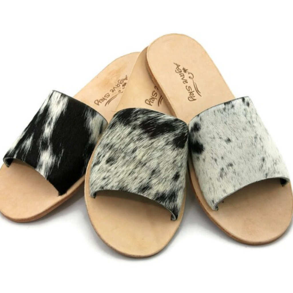 Punchy's Cowhide Slides