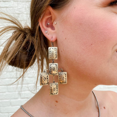 Punchy's Cinco Amigas Chandlier Hook Earring