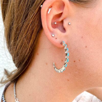 Punchy's Petite Turquoise Hoop Earrings