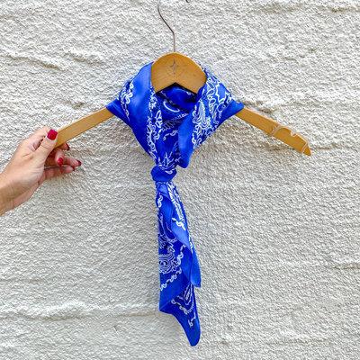 Punchy's Silky Blue Traditional Bandana Neckerchief