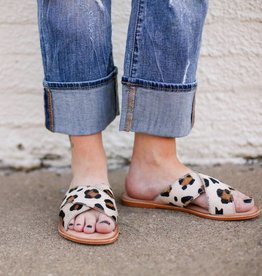 Punchy's Ava Sandal with Cheetah Hair on Hide
