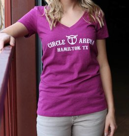 Circle T Ladies VNeck Tshirt