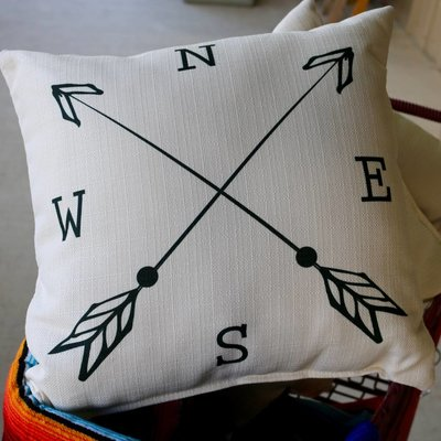 Punchy's NESW Compass Pillow
