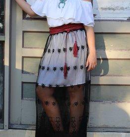 Punchy's Sheer Lace Maxi Skirt