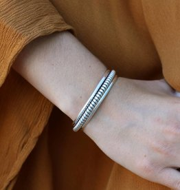 Punchy's Sterling Silver Braided Cuff