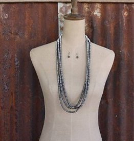 Punchy's 3 Strand Metallic Bead Necklace