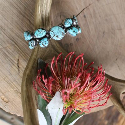 Punchy's Blue Moon Turquoise Cluster Cuff
