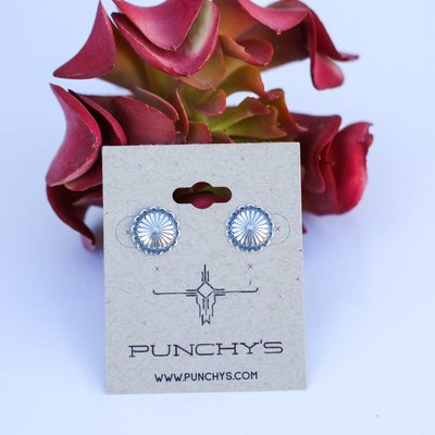 Punchy's Small Round Flower Stud
