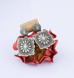 Punchy's Square Stamped Sterling Silver Earrings
