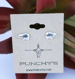 Punchy's Sterling Silver Lightening Bear Stud