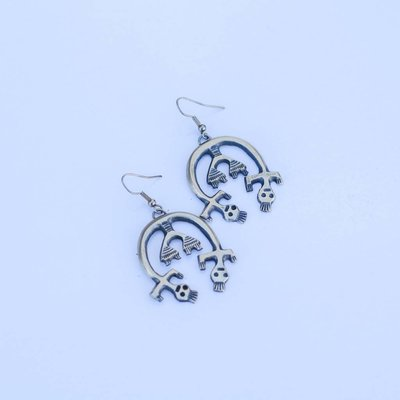 Punchy's Sterling Silver Squash Earring with Man