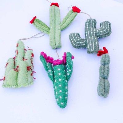 Punchy's Cactus Felt Ornament