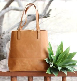 Punchy's Never Full Leather Tote