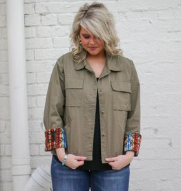 Punchy's Cargo Jacket with Aztec Patch