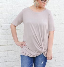 Punchy's Front Knotted Basic Tee