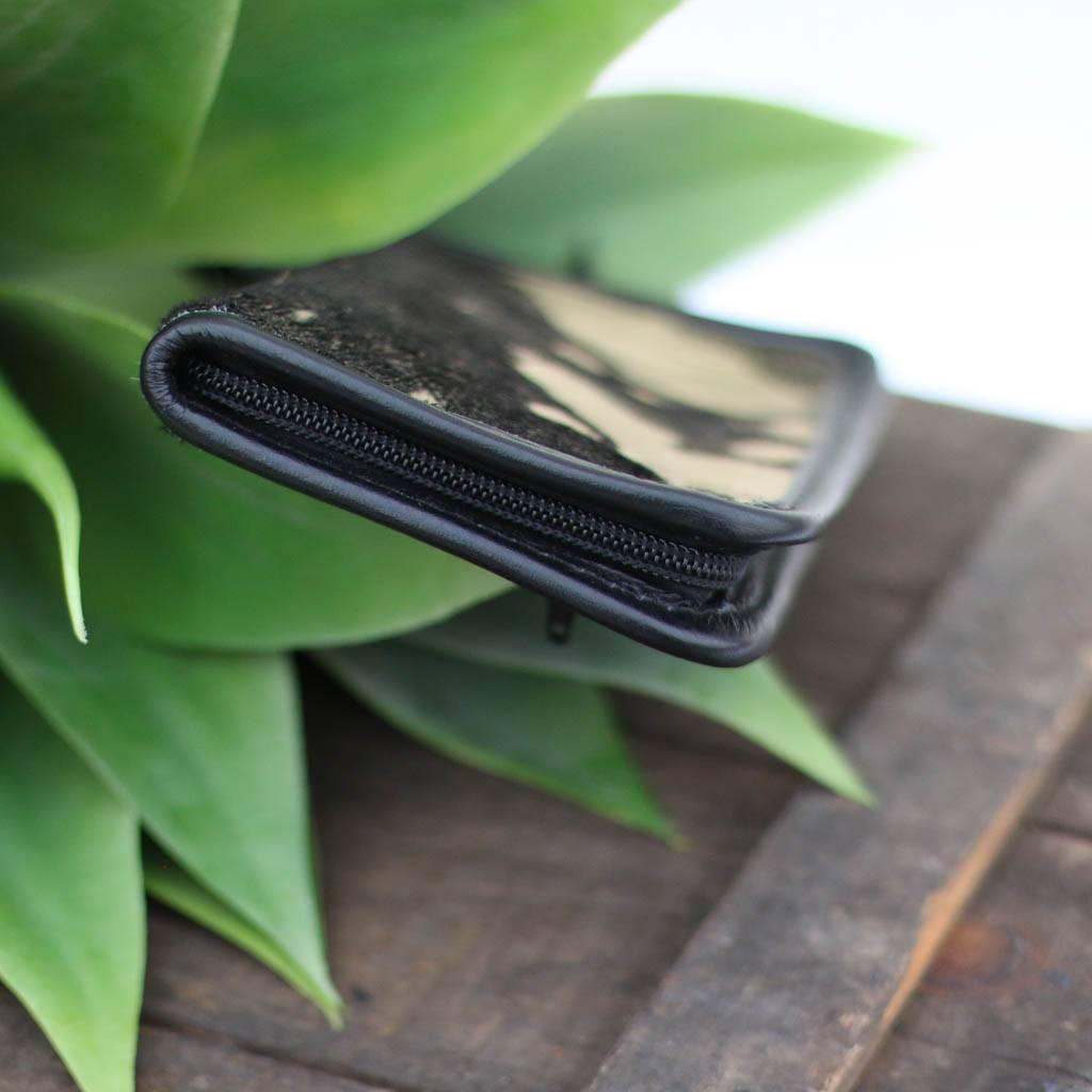 Punchy's Gold & Black Acid Wash Zipper Wallet