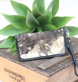 Punchy's Gold & Black Acid Wash Zipper Wallet