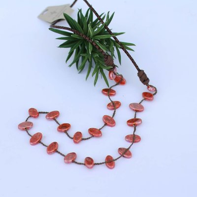 Punchy's Terracotta Glaze Leather Necklace
