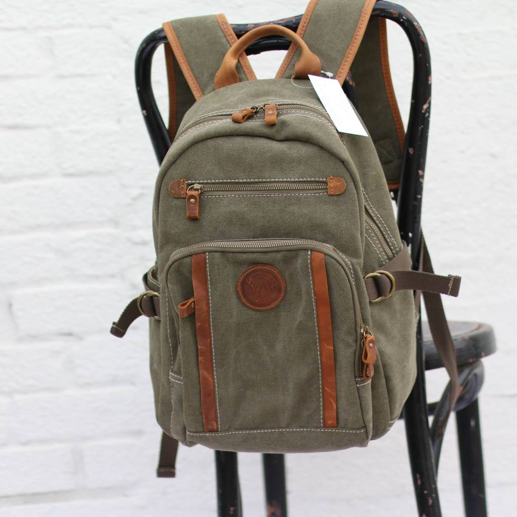 0645dd172c1a Men s Canvas   Leather Backpack