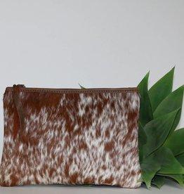 Punchy's Roan Cow Hair Leather Medium Clutch