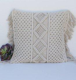 Punchy's Macrame Pillow