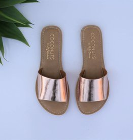Punchy's Rose Gold Slide Sandal