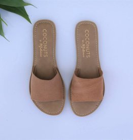 Punchy's Tan Suede Leather Slide Sandal