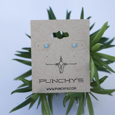 Punchy's Sterling Silver Tiny Turquoise Stud