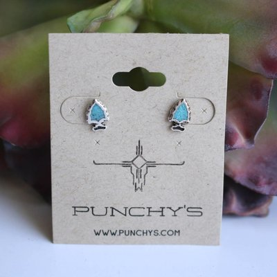 Punchy's Small Arrowhead Stud with Turquoise