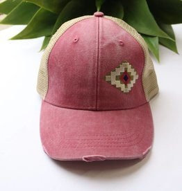 Punchy's Distressed Aztec Patch Hat