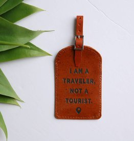 Punchy's Leather Luggage Tag