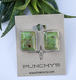 Punchy's Green Turquoise Rope Studs