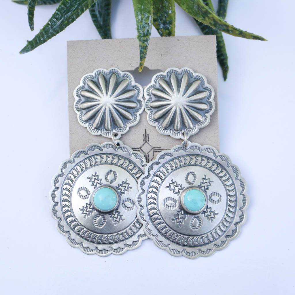 Double Concho Earrings Campetos