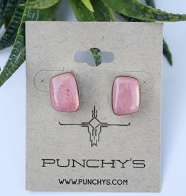 Punchy's Pink Rhodonite Stud