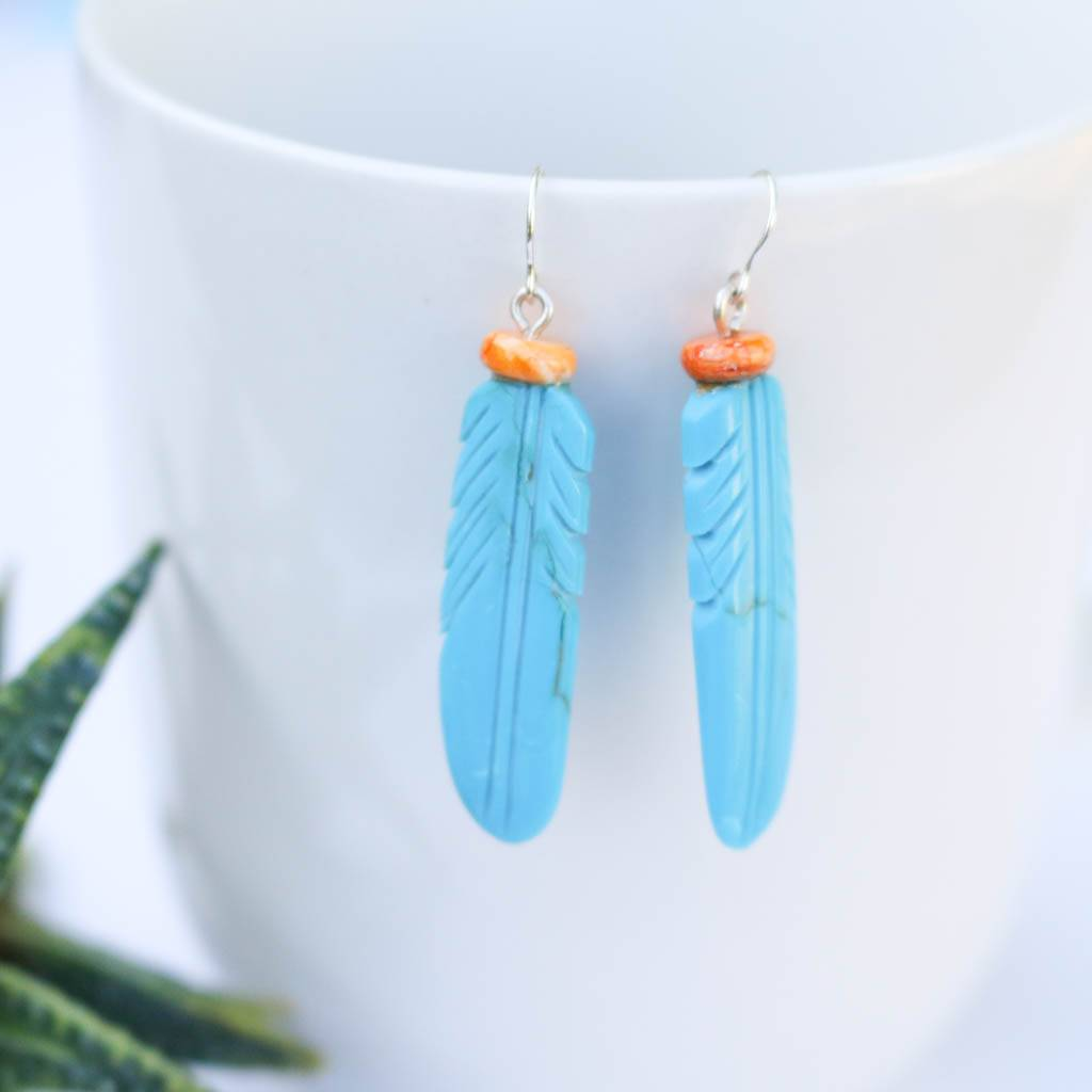 Punchy's Compressed Feather Earrings