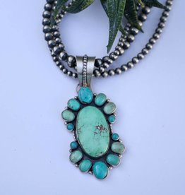 Punchy's Carico Lake & Kingman Turquoise Cluster Pendant