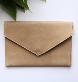Punchy's Envelope Leather Clutch