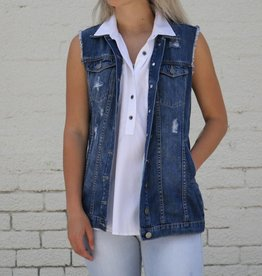 Punchy's Distressed Denim Vest