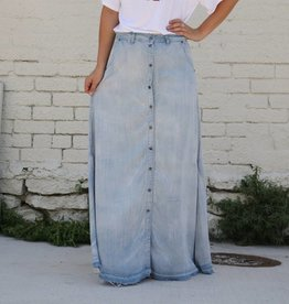 Punchy's Light Denim Tencel Maxi Skirt