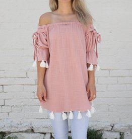 Punchy's Off the Shoulder Tassel Top