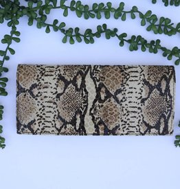 Punchy's Snake Brown Leather Clutch Wallet