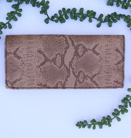 Punchy's Snake Rust Tri-Fold Wallet