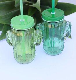 Punchy's Cactus Mason Jar Cup